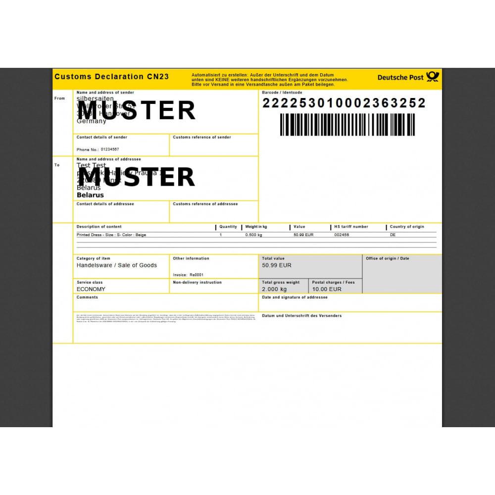 module - Versanddienstleister - DHL Geschäftskundenportal - 6