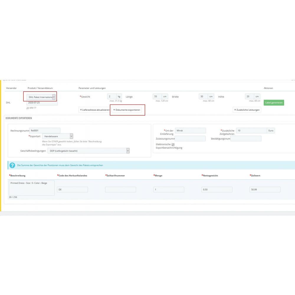 module - Vervoerder - DHL Business Portal - 3