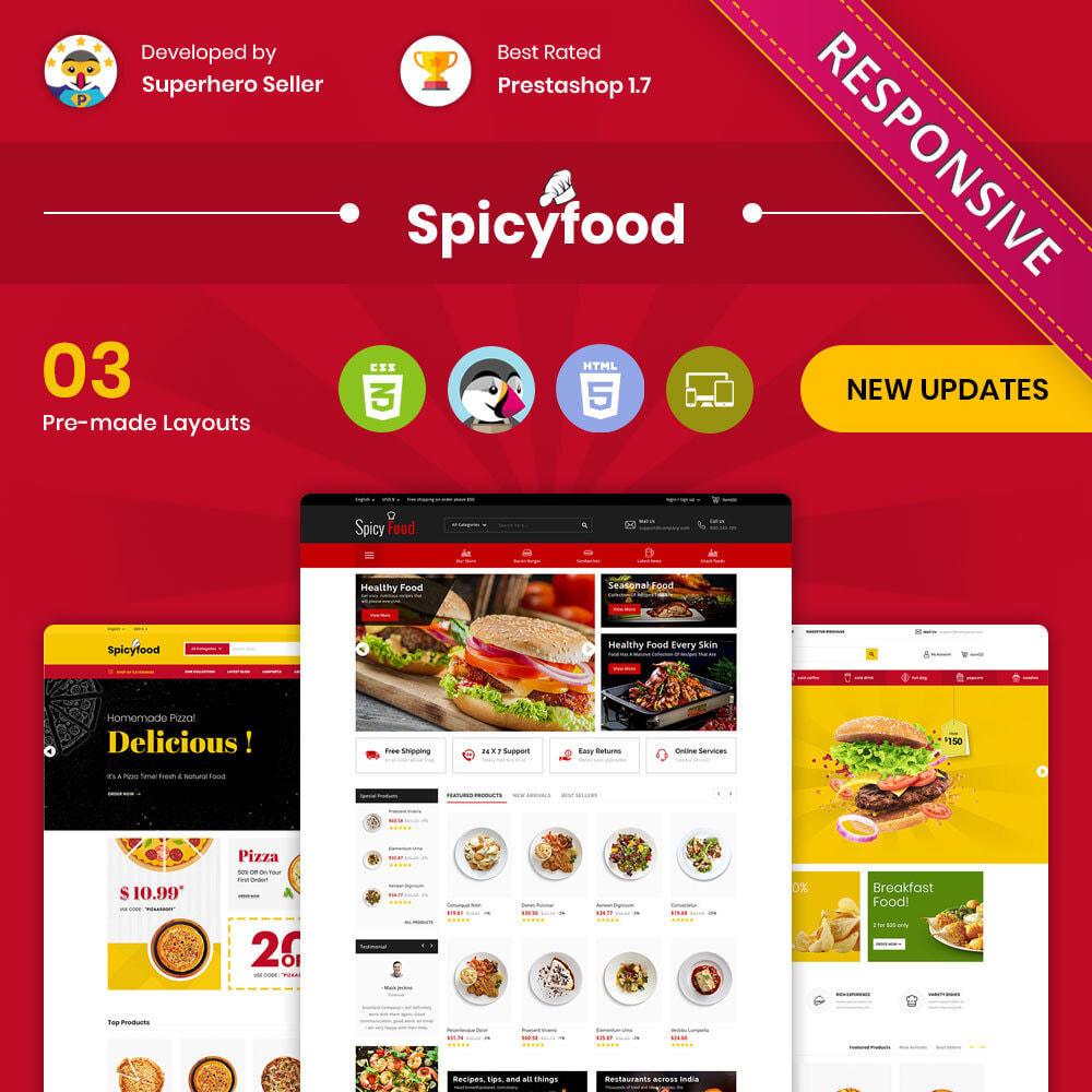 theme - Alimentation & Restauration - Spicy Food - Le magasin d'alimentation Mega - 1