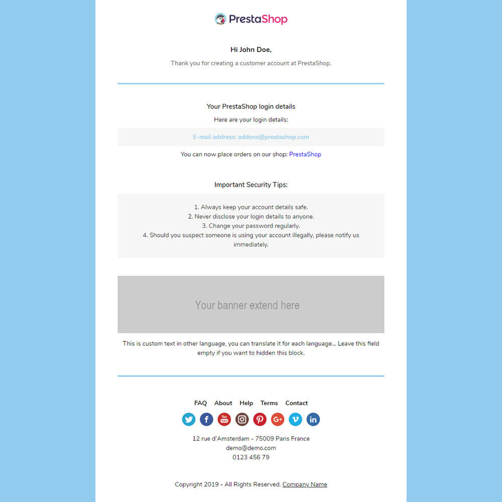 email - PrestaShop-E-Mail-Vorlagen - Codon - Template emails and for emails of module - 3