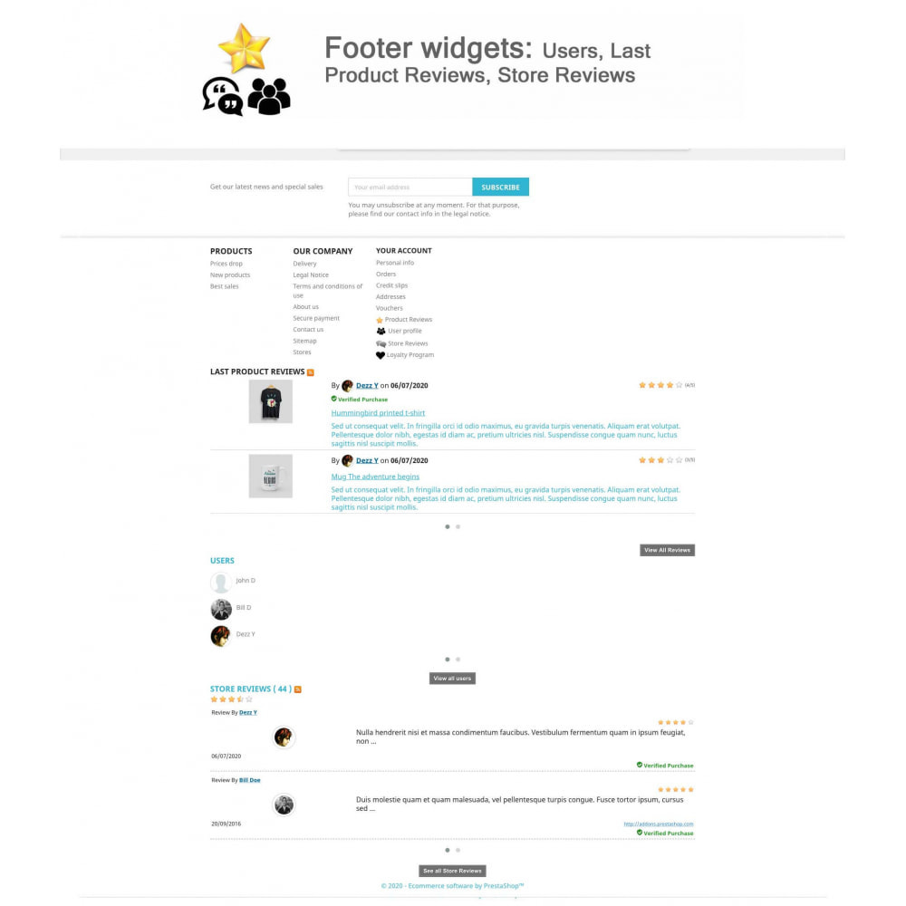 module - Recensioni clienti - Product Reviews+Shop Reviews, Loyalty Program, Reminder - 18
