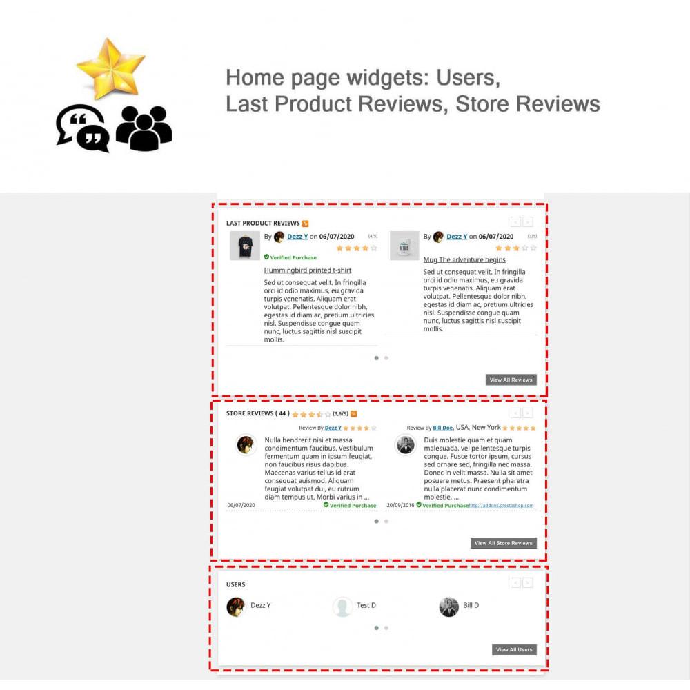 module - Avis clients - Avis sur les produits + Boutique, Programmes fidélité - 5