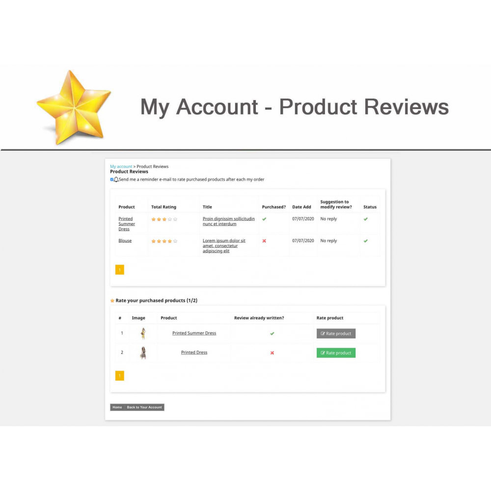 module - Sociale Widgets - Product Reviews PRO + Loyalty Program + User Profile - 15
