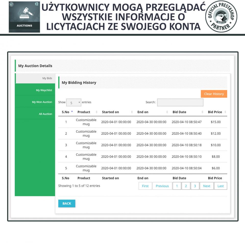 module - Zbuduj stronę aukcyjną - Aukcje Pro, Aukcje i Licytacje Online - 9