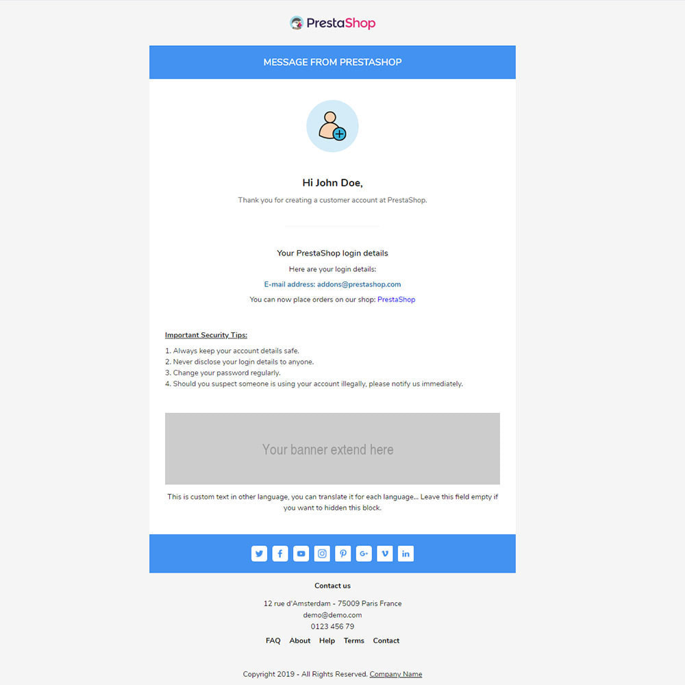email - Templates d'e-mails PrestaShop - Logia - Template emails and for emails of module - 3