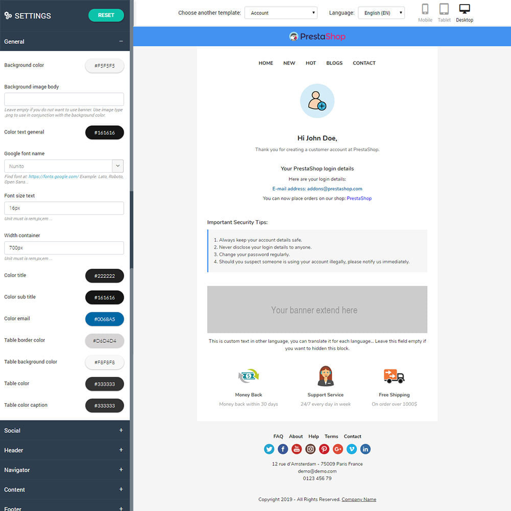 email - PrestaShop email templates - Paramecia - Template emails and for emails of module - 2