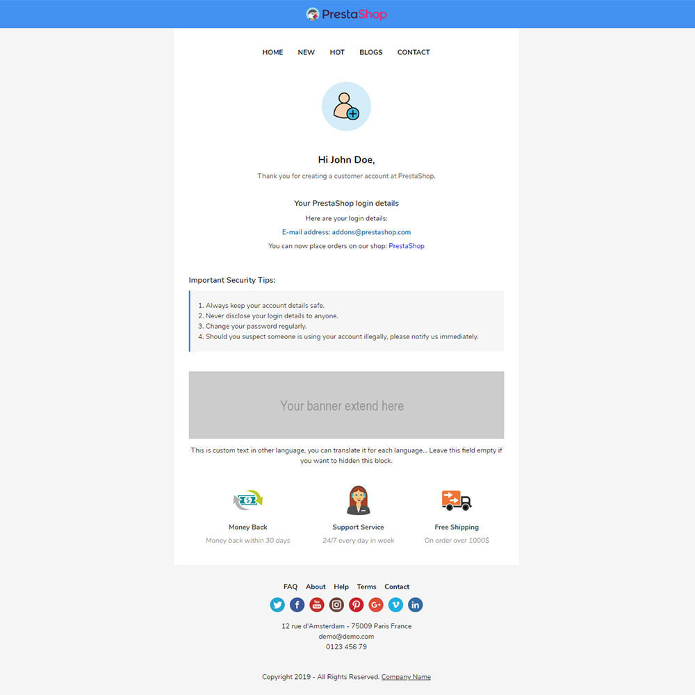 email - PrestaShop email templates - Paramecia - Template emails and for emails of module - 3