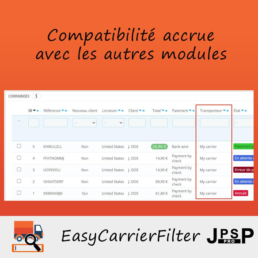 module - Recherche & Filtres - Recherche par transporteur - Easy Carrier Filter - 2
