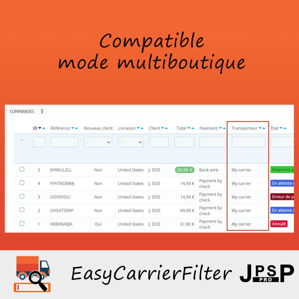 module - Recherche & Filtres - Recherche par transporteur - Easy Carrier Filter - 3