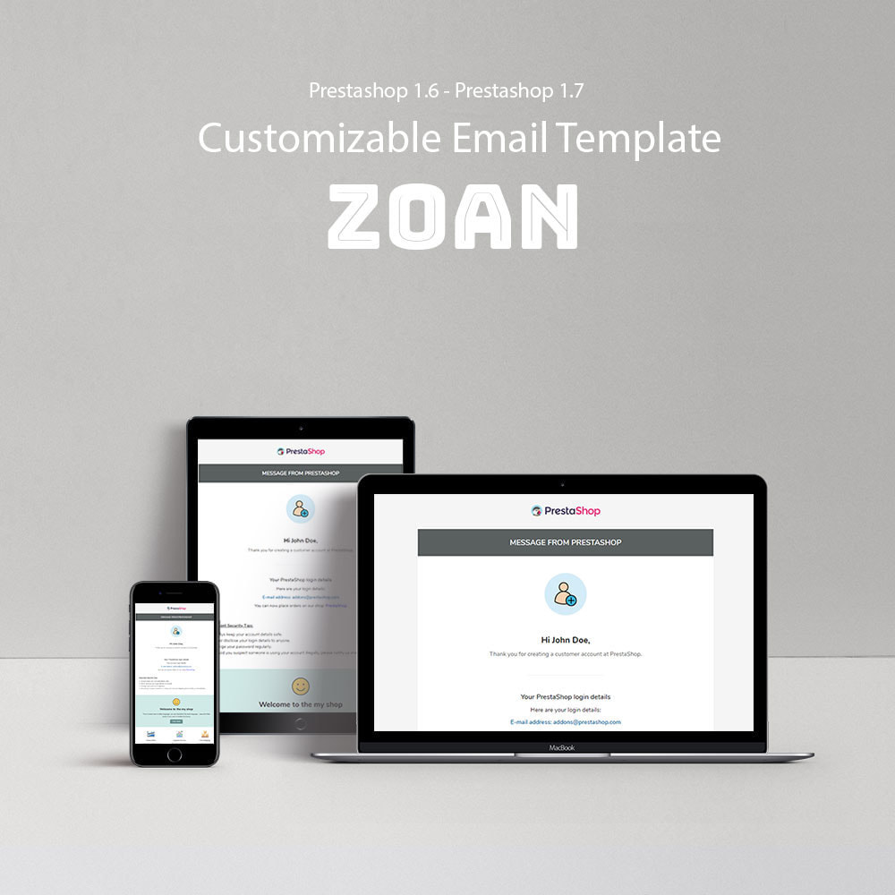 email - Email templates PrestaShop - Zoan - Template emails and for emails of module - 1