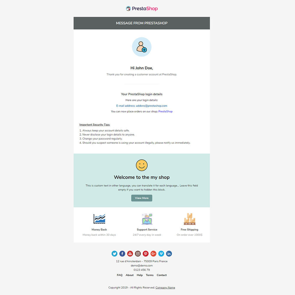 email - Email templates PrestaShop - Zoan - Template emails and for emails of module - 3