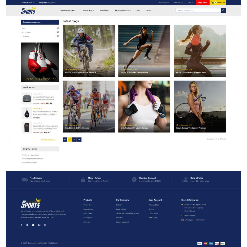 theme - Sport, Rozrywka & Podróże - Sports Line Store - 9