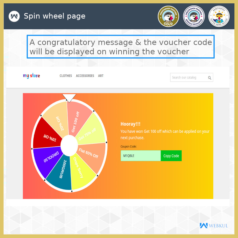 module - Promotion & Geschenke - Spin and Win - 4