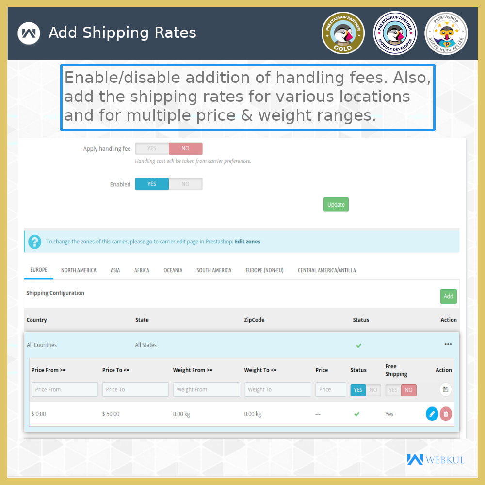 module - Shipping Carriers - Shipping Rates - 12
