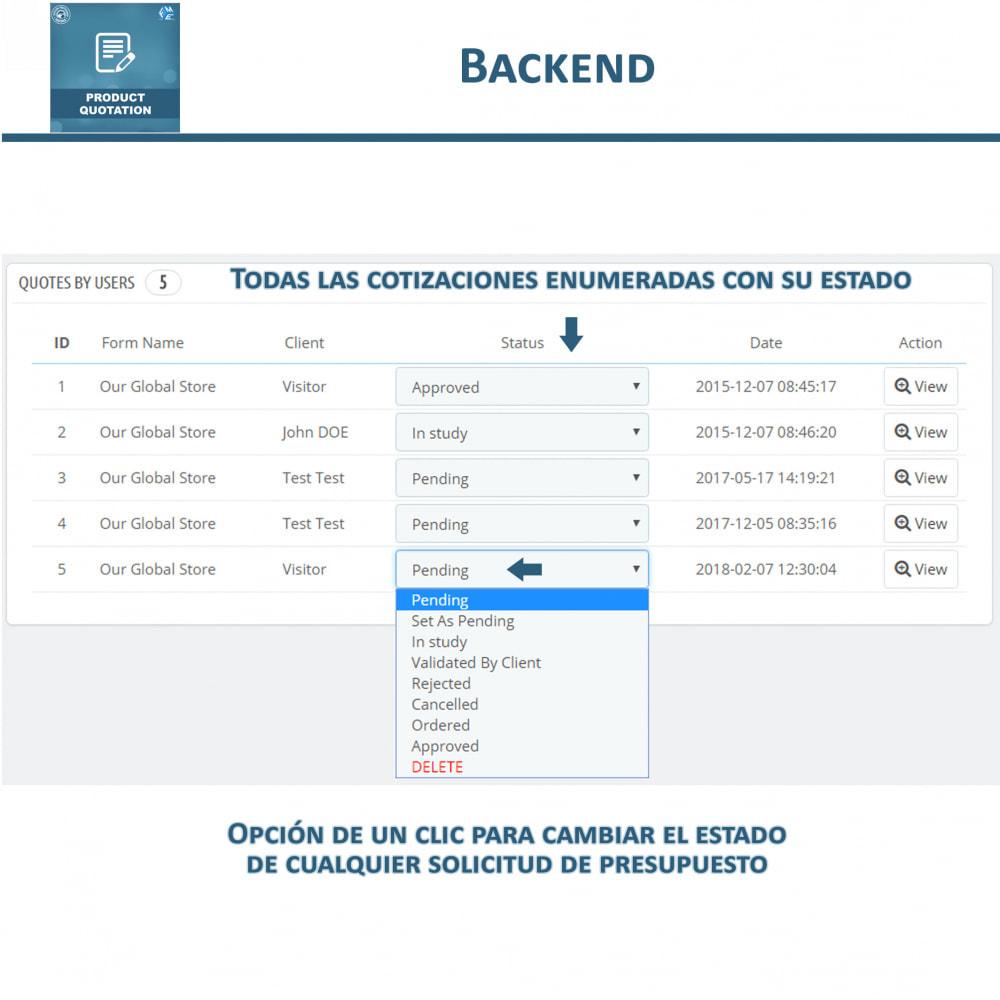module - Presupuestos - Cotización de Producto - Permitir al Cliente Cotizar - 12