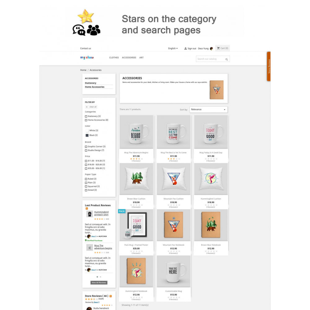 module - Avis clients - Avis sur les produits + Boutique, Programmes fidélité - 9