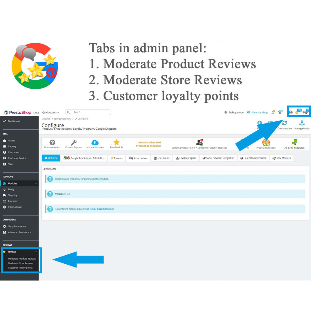 module - Avis clients - Produit+Boutique Avis, Points fidélité, Google Snippets - 31