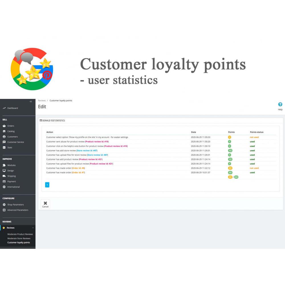 module - Avis clients - Produit+Boutique Avis, Points fidélité, Google Snippets - 39