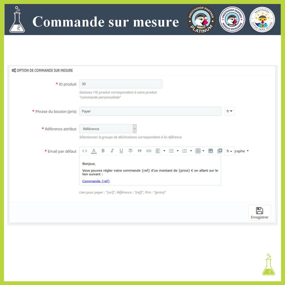 module - Gestion des Commandes - Commande sur mesure - 2