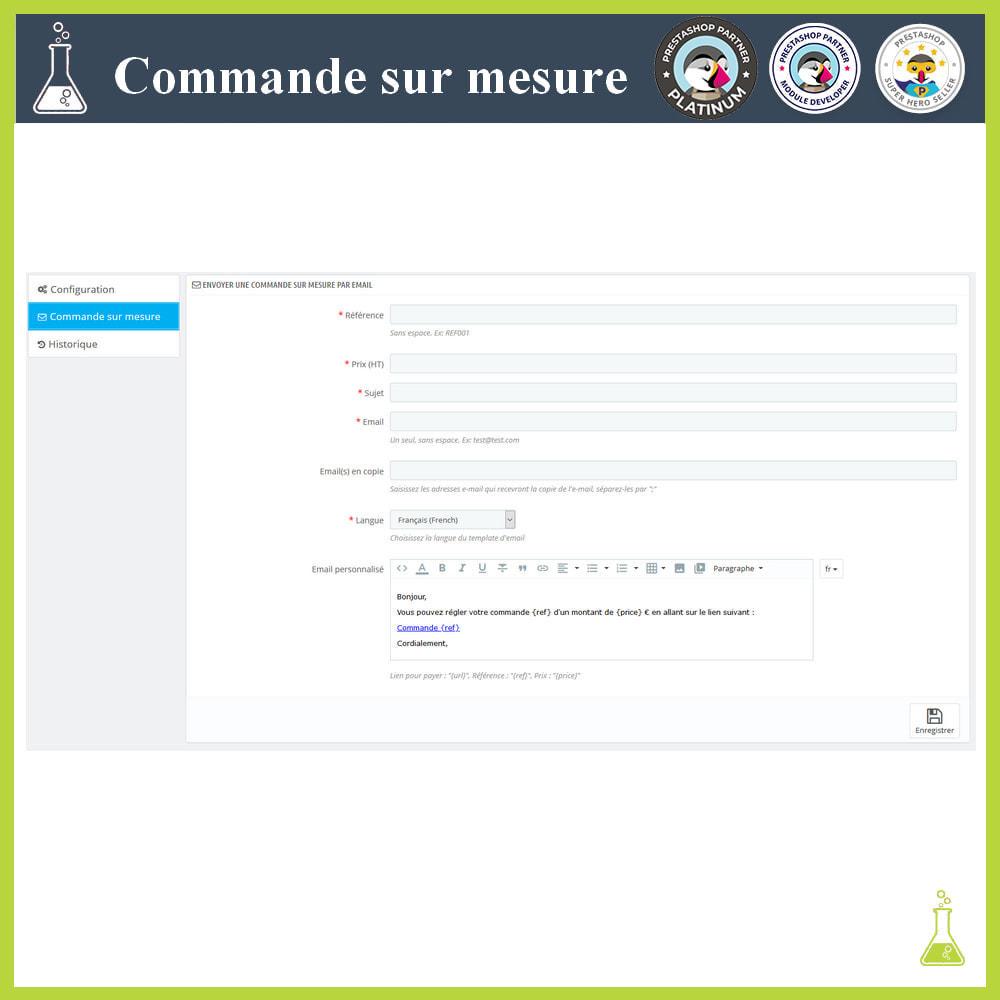 module - Gestion des Commandes - Commande sur mesure - 3