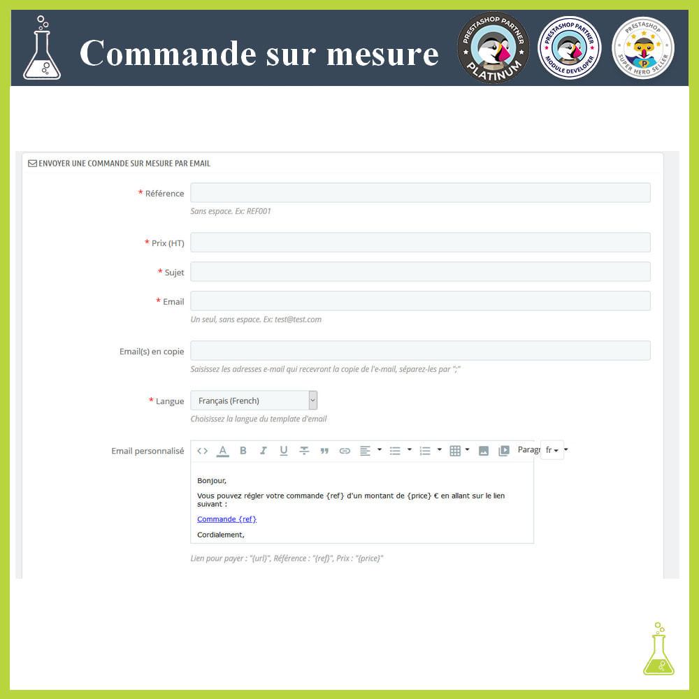 module - Gestion des Commandes - Commande sur mesure - 4