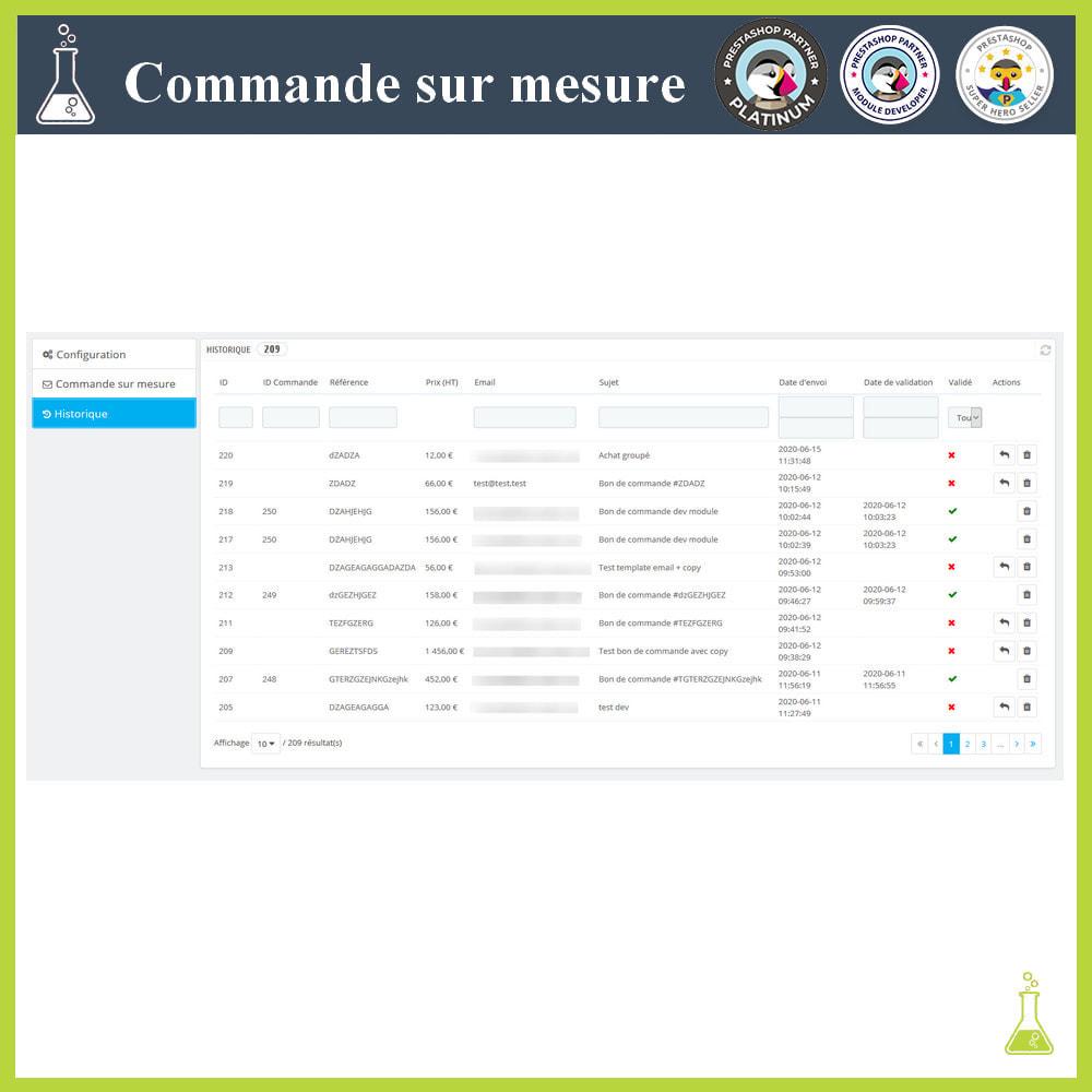 module - Gestion des Commandes - Commande sur mesure - 5