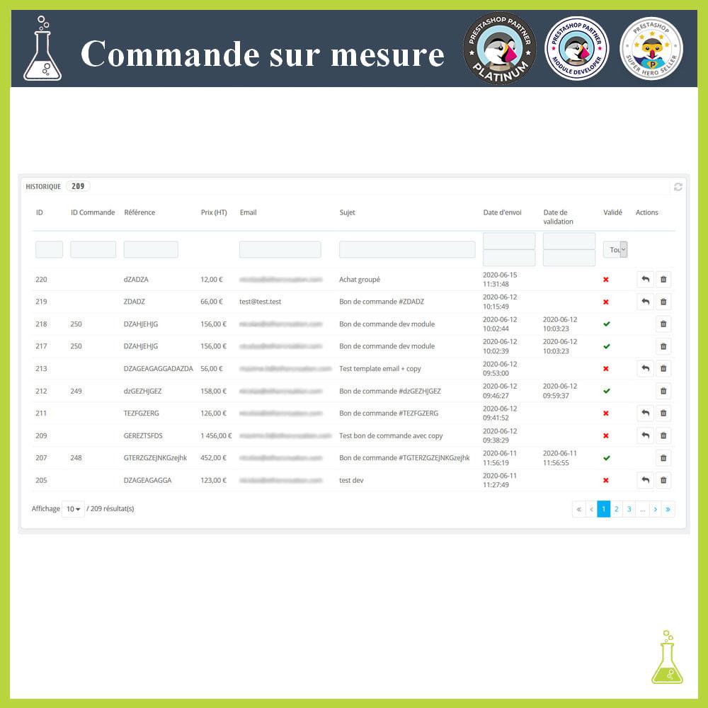 module - Gestion des Commandes - Commande sur mesure - 6