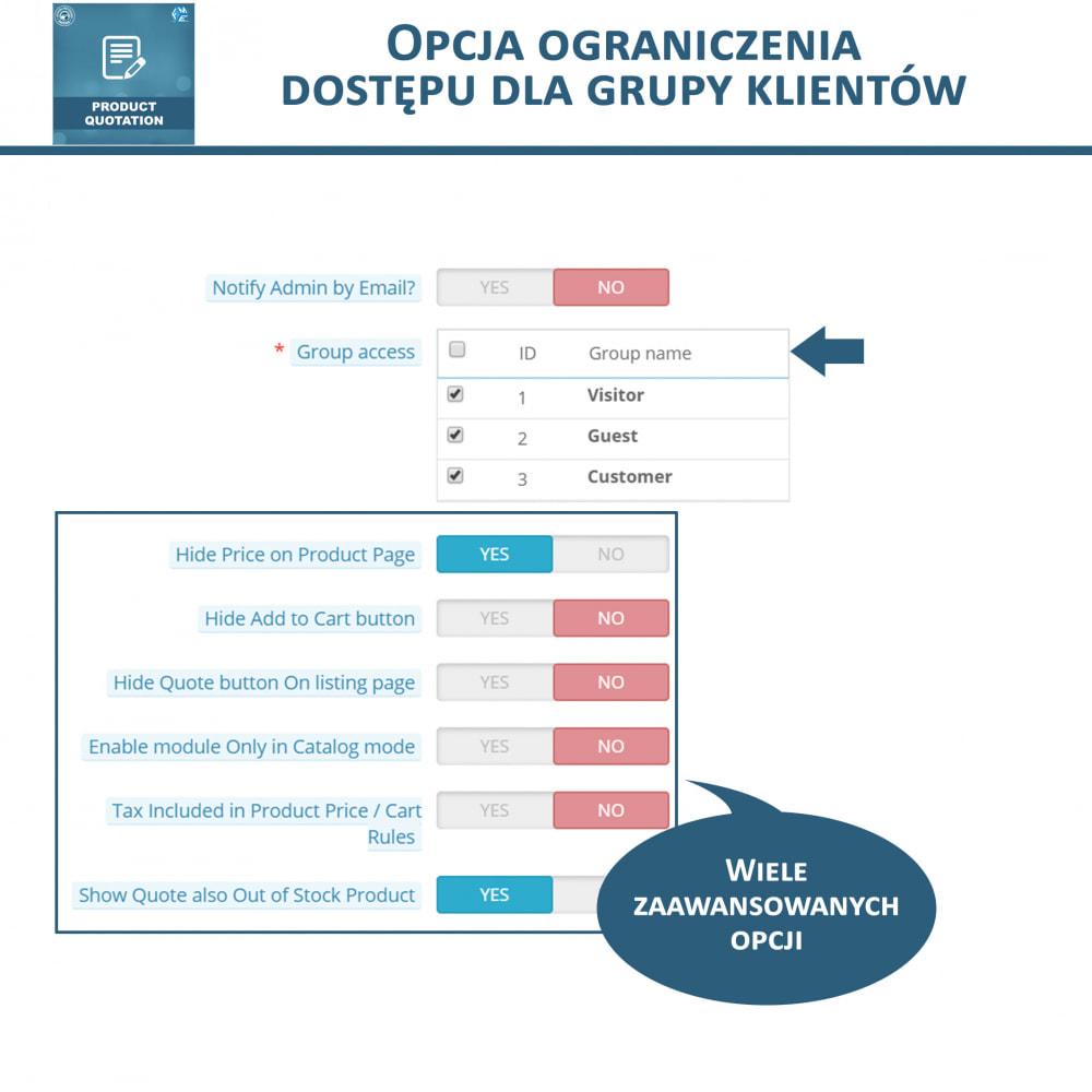 module - Wyceny - Wycena produktu - Pozwól klientowi poprosić o wycenę - 9