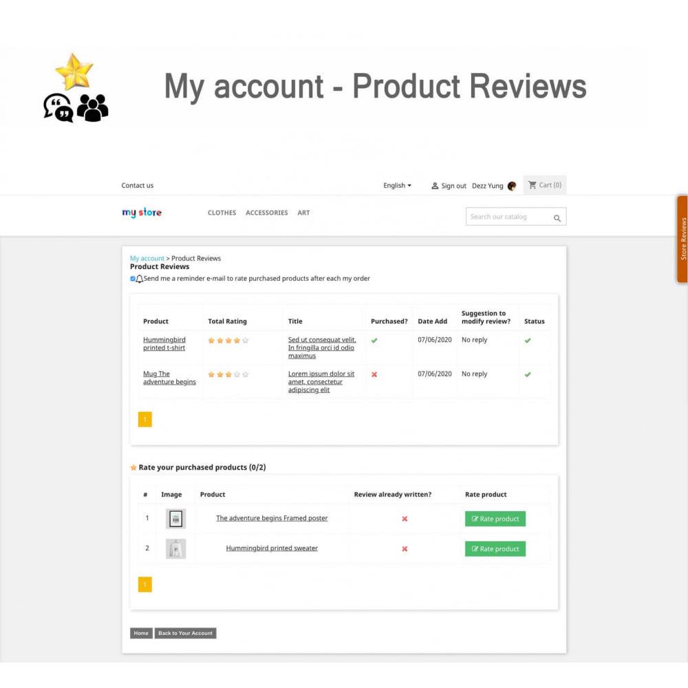 module - Avis clients - Avis sur les produits + Boutique, Programmes fidélité - 20
