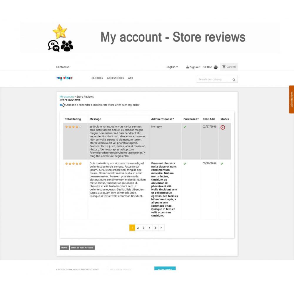 module - Avis clients - Avis sur les produits + Boutique, Programmes fidélité - 23