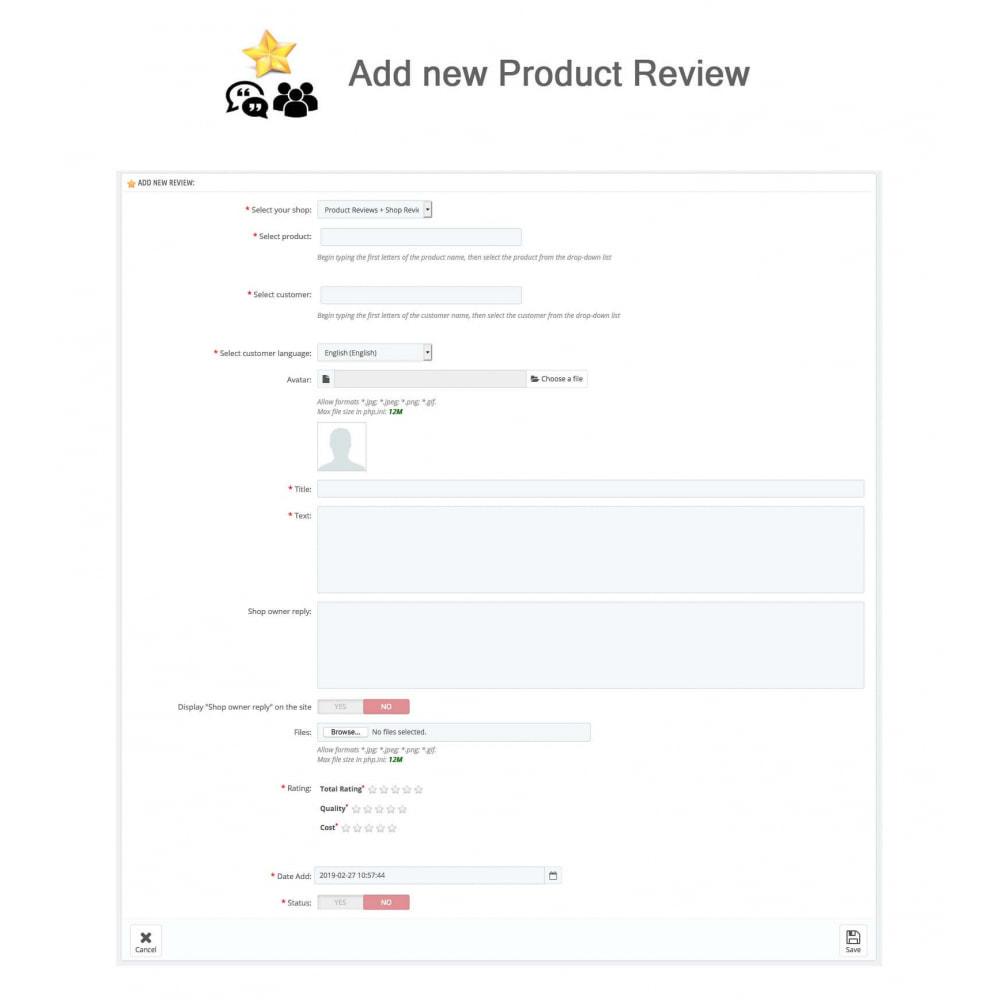 module - Avis clients - Avis sur les produits + Boutique, Programmes fidélité - 30