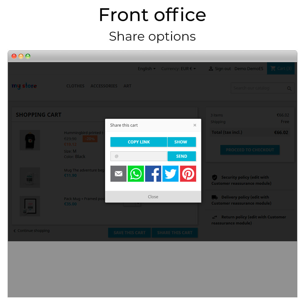 module - Share Buttons & Comments - Share and save cart - Create cart from URL - 5