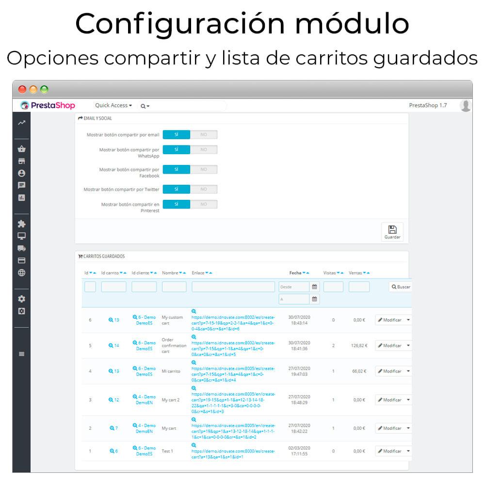 module - Compartir contenidos y Comentarios - Compartir y guardar carrito - Crear carrito desde URL - 3