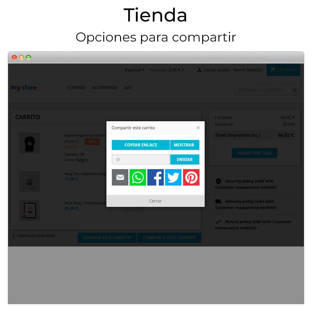 module - Compartir contenidos y Comentarios - Compartir y guardar carrito - Crear carrito desde URL - 5