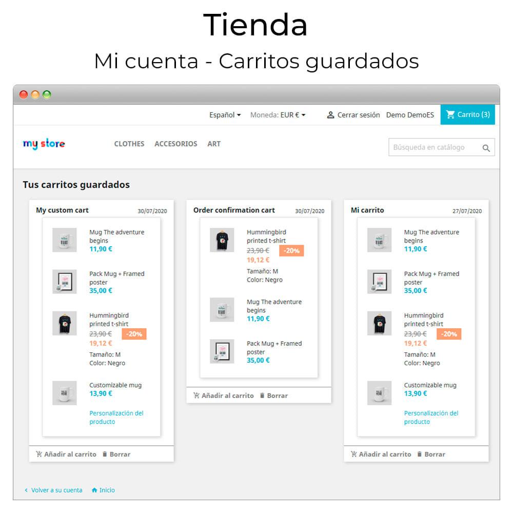 module - Compartir contenidos y Comentarios - Compartir y guardar carrito - Crear carrito desde URL - 6