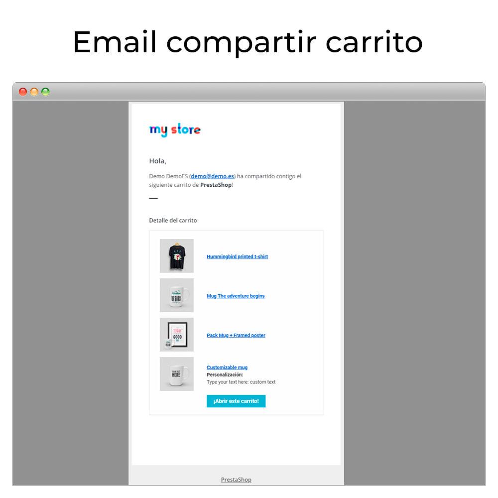 module - Compartir contenidos y Comentarios - Compartir y guardar carrito - Crear carrito desde URL - 7