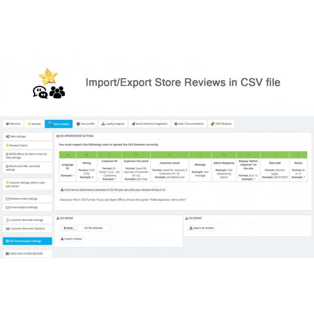 module - Recensioni clienti - Product Reviews+Shop Reviews, Loyalty Program, Reminder - 43