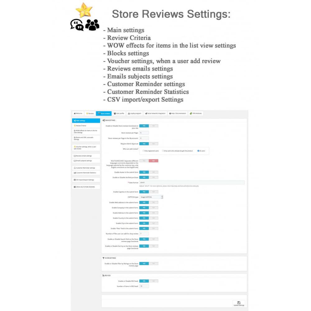 module - Avis clients - Avis sur les produits + Boutique, Programmes fidélité - 40