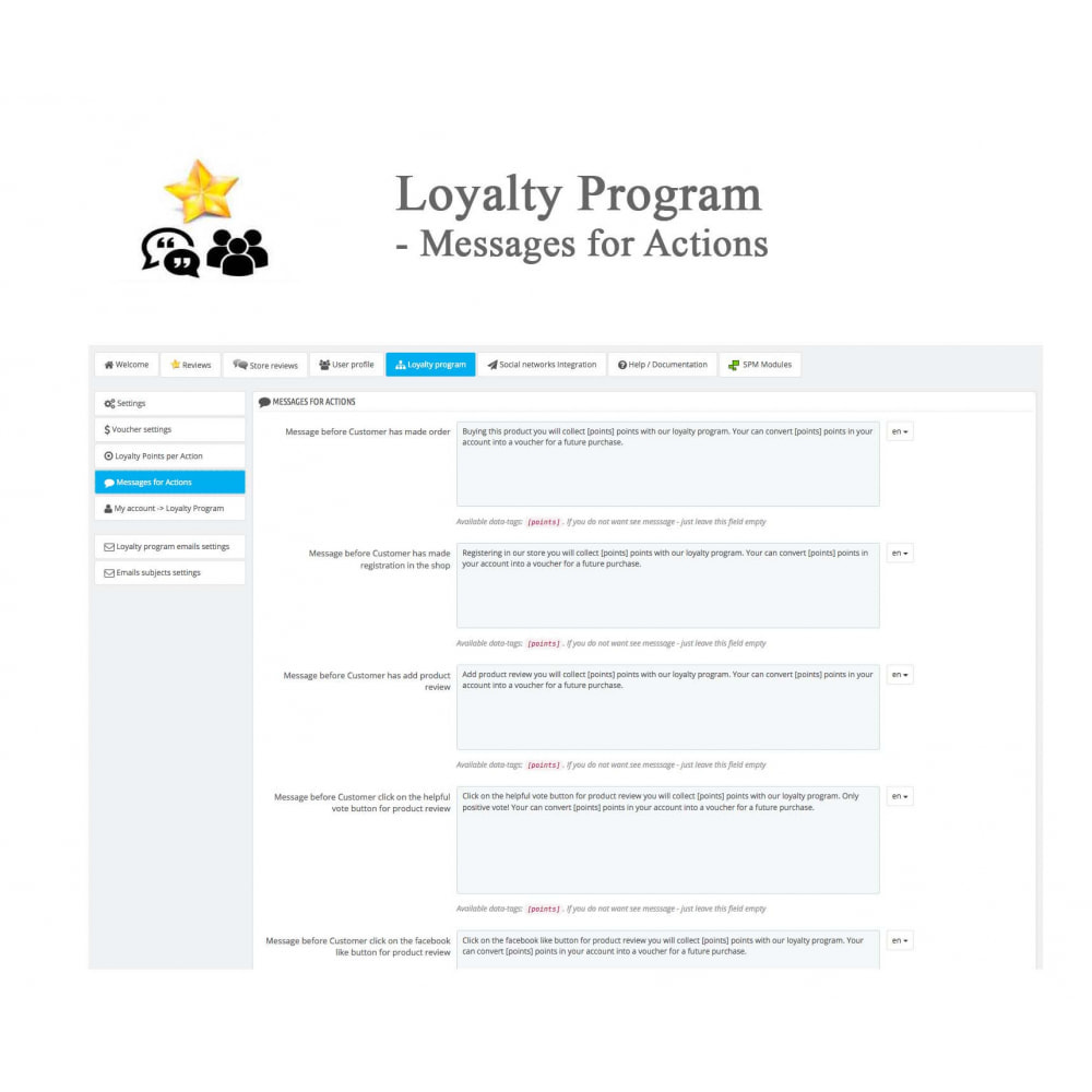 module - Avis clients - Avis sur les produits + Boutique, Programmes fidélité - 48