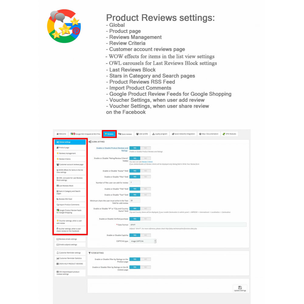 module - Klantbeoordelingen - Product, Shop Reviews, Loyalty Program, Google Snippets - 40