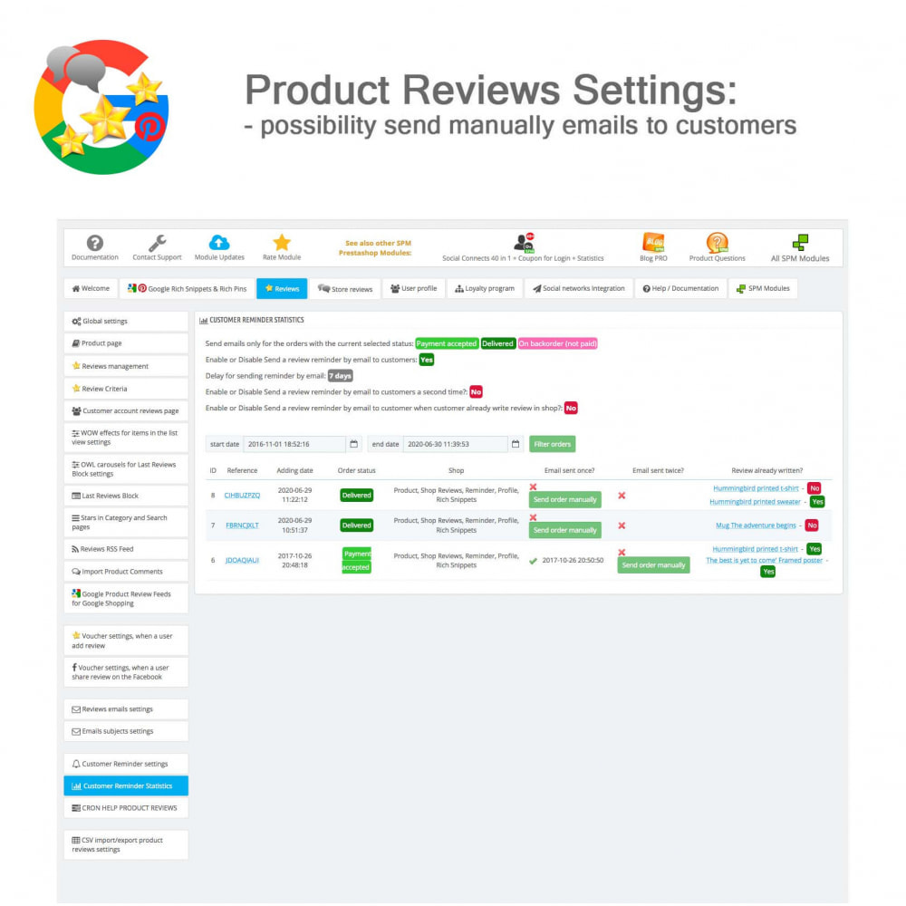 module - Klantbeoordelingen - Product, Shop Reviews, Loyalty Program, Google Snippets - 43