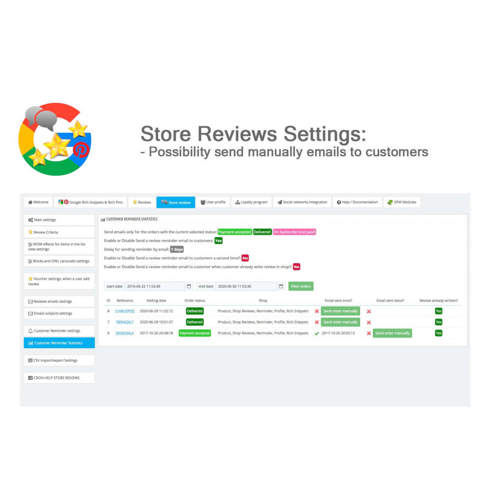 module - Klantbeoordelingen - Product, Shop Reviews, Loyalty Program, Google Snippets - 48