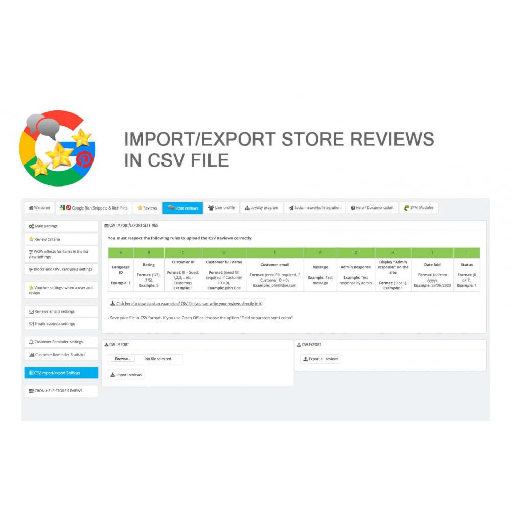 module - Klantbeoordelingen - Product, Shop Reviews, Loyalty Program, Google Snippets - 49