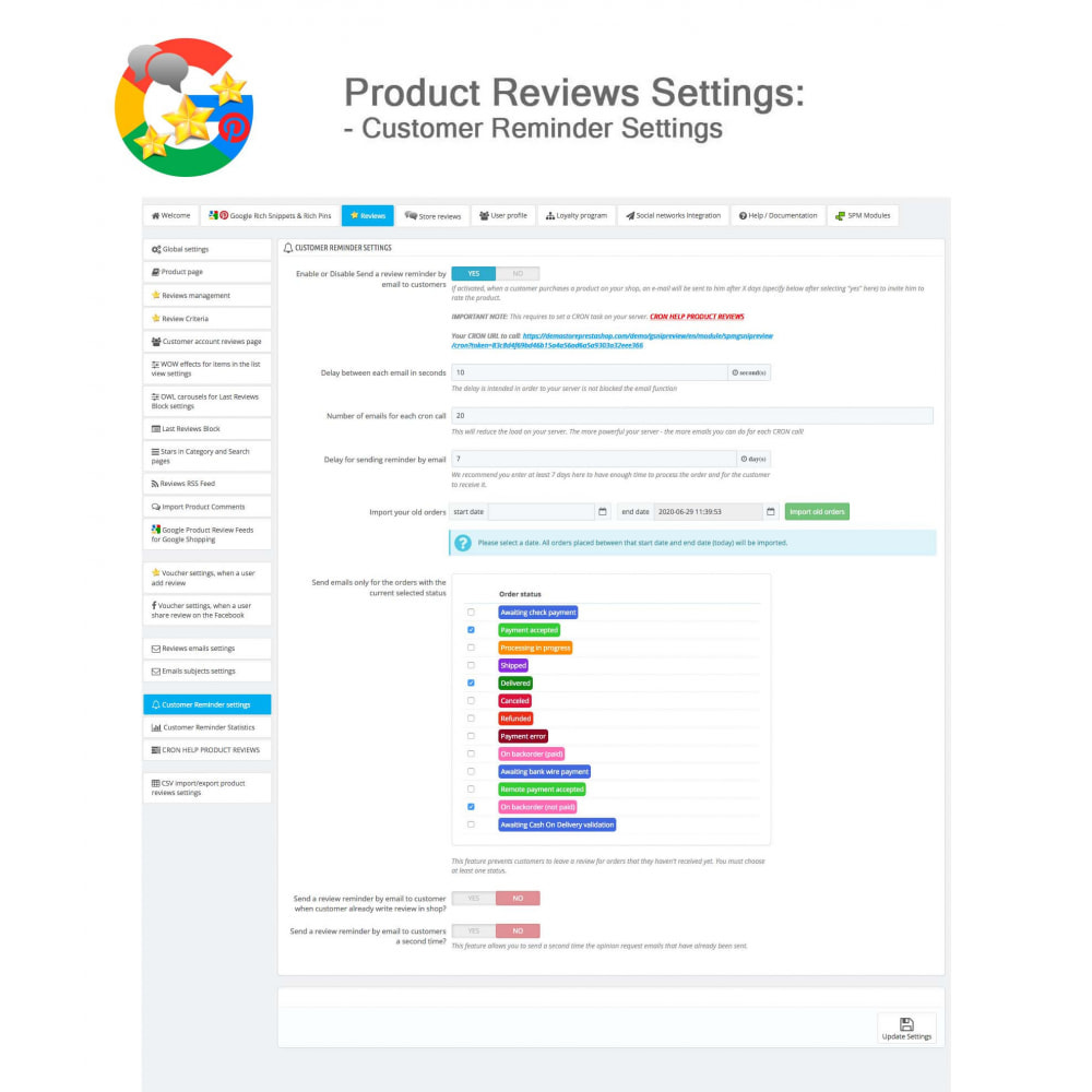 module - Avis clients - Produit+Boutique Avis, Points fidélité, Google Snippets - 42