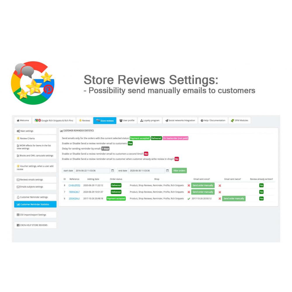 module - Avis clients - Produit+Boutique Avis, Points fidélité, Google Snippets - 48