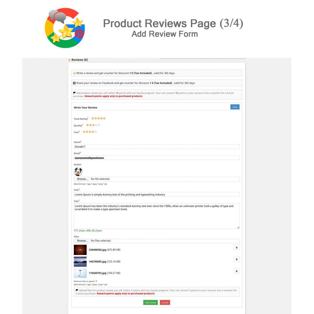 module - Avis clients - Produit+Boutique Avis, Points fidélité, Google Snippets - 4