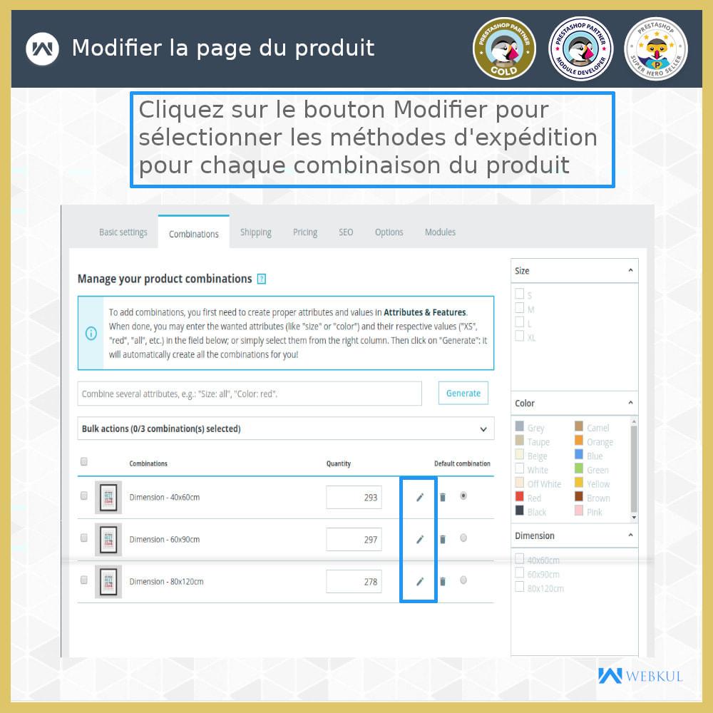 module - Transporteurs - Expédition par combinaison - 1