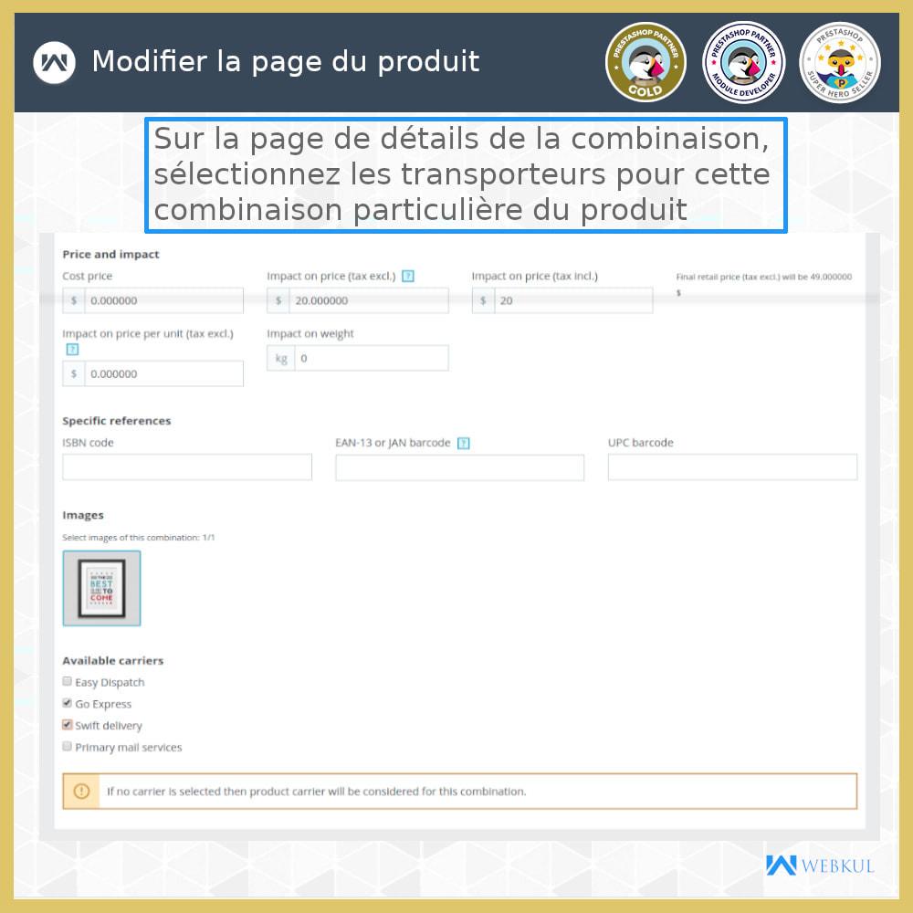 module - Transporteurs - Expédition par combinaison - 2