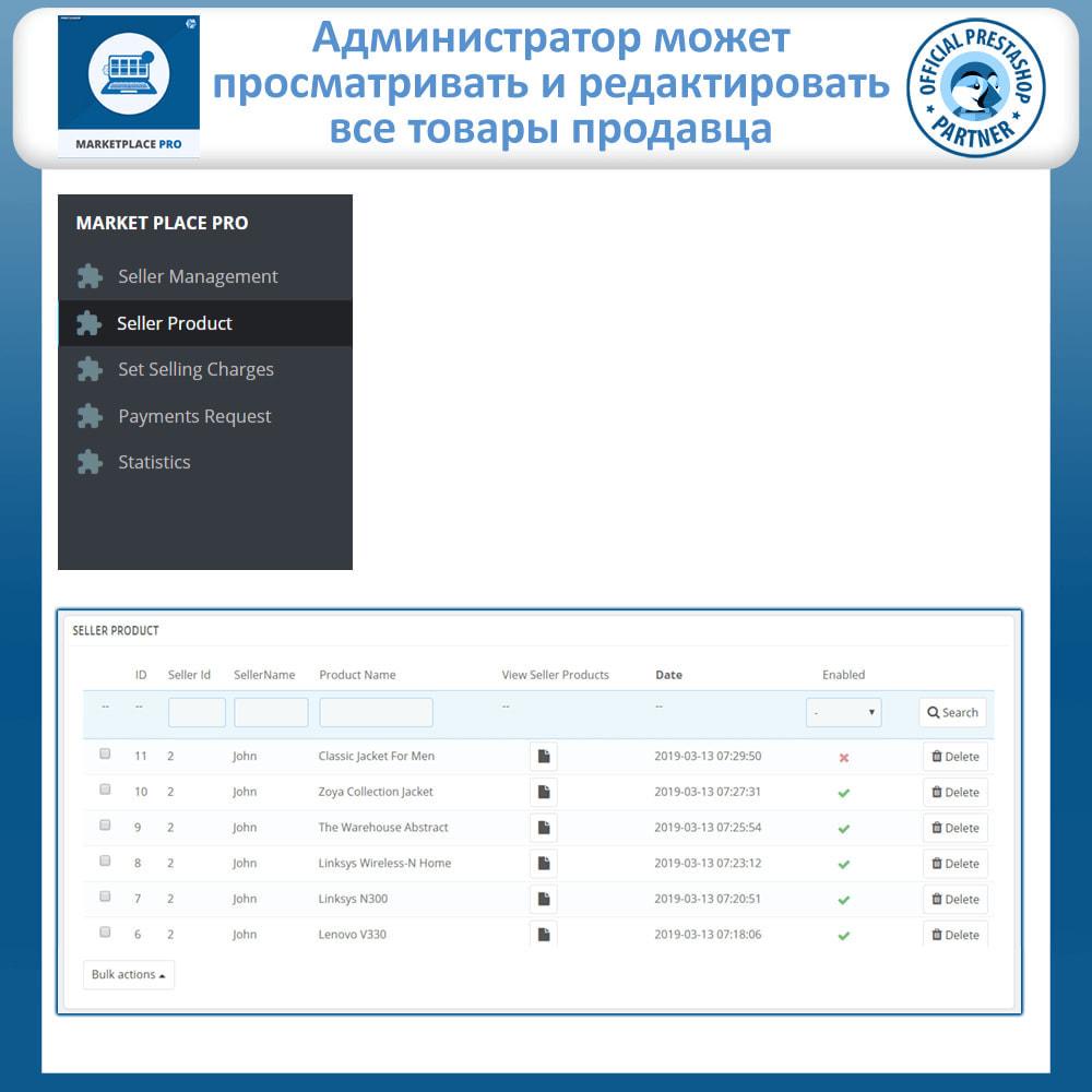 module - Создания торговой площадки - Multi Vendor Marketplace  - Marketplace Pro - 24