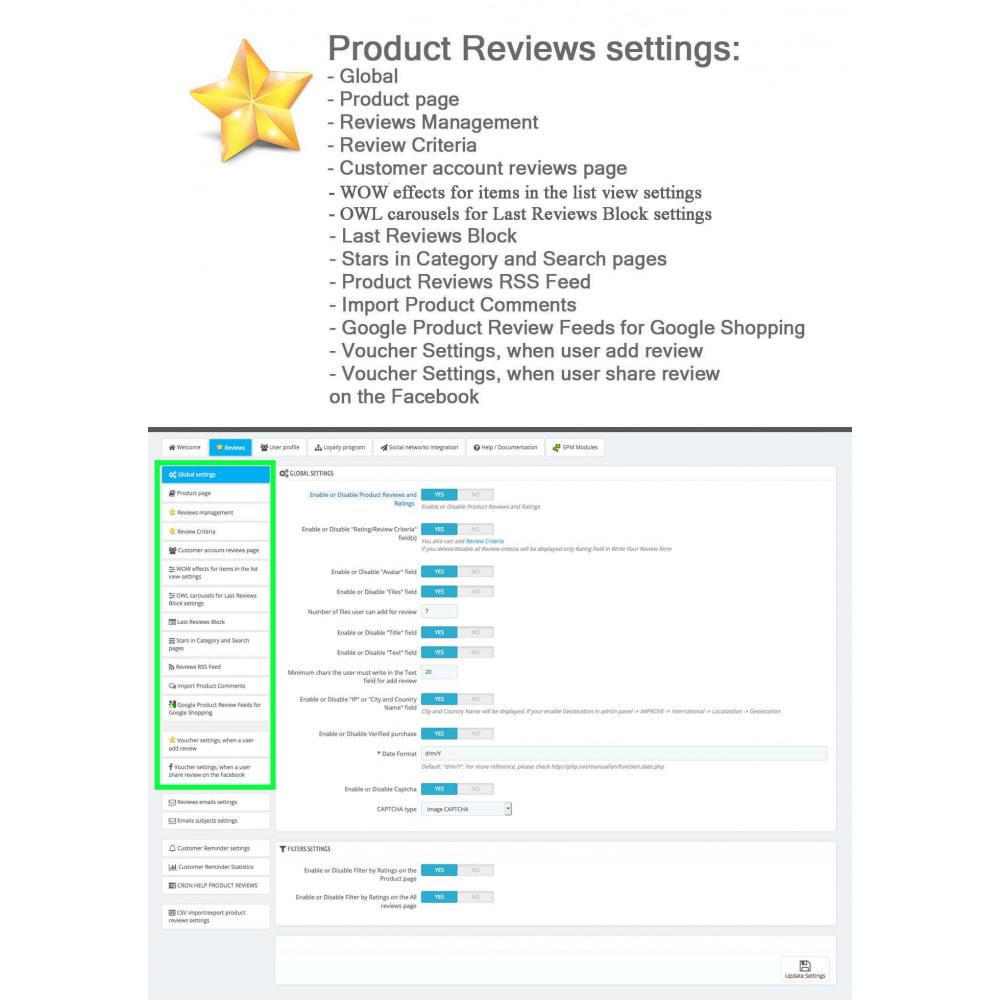 module - Widgets réseaux sociaux - Produit Avis + Programmes fidélité + Profil utilisateur - 31